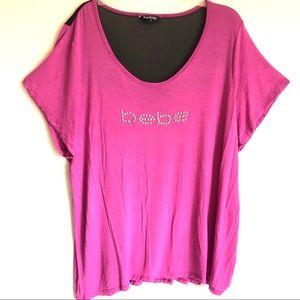 Bebe Studded Logo Shirt